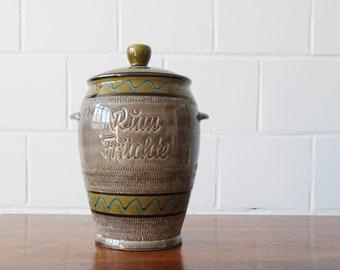 Rumtopf 5 Liter, Mehrzwecktopf Keramik grau für Rumfrüchte