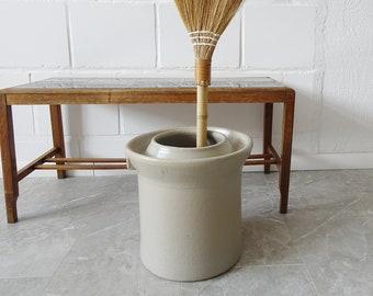 large stoneware pot, sauerkraut pot, stoneware plant pot