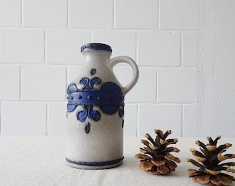 grey blue vase by VEB Haldensleben 1960s