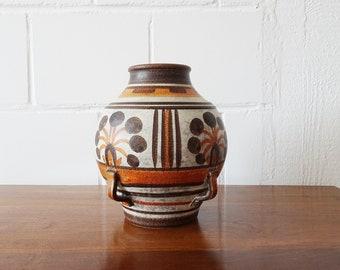 Italica ARS ceramic vase, large belly flower vase in natural tones