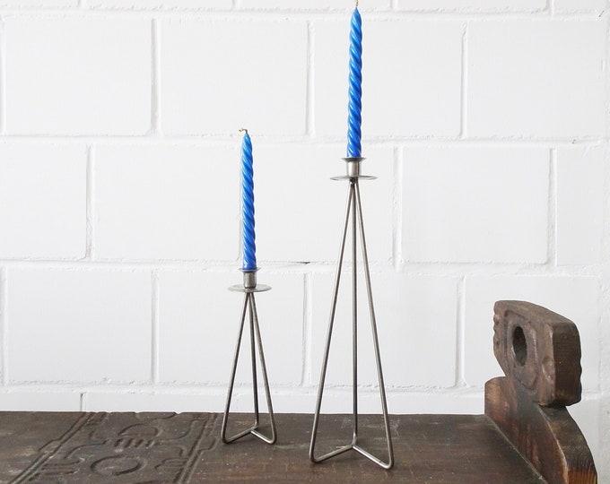 Featured listing image: Vintage Metal Candlestick Set of 2