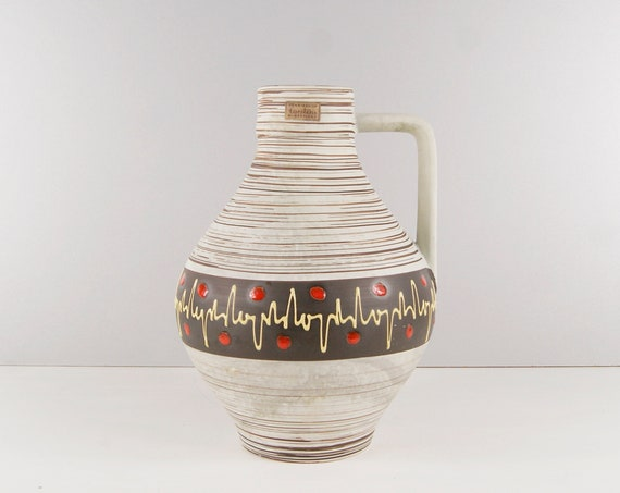 Carstens Tönnieshof ceramic vase, handle vase, large bulbous vase