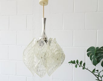 Hanging lamp made of acrylic in ice glass optic, pendant lamp ME luminaires