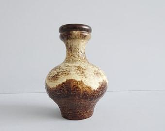 Dümler & Breiden ceramic vase in brown beiger Fat Lava glaze