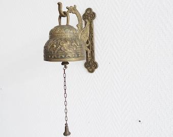Brass Doorbell, Old Bell Leo Aquila Agnus Pelicanus