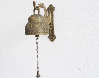 Messing Türglocke, alte Glocke Leo Aquila Agnus Pelicanus