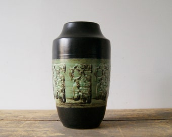 large vase by Dümler & Breiden in green and black