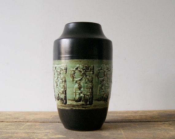 large vase by Dümler & Breiden in green and black