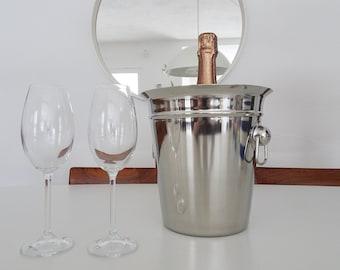 Aluminium champagne cooler, bottle cooler, champagne cooler, wine cooler