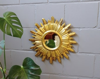 gilded wooden sun mirror, Florentine Sunburst wall mirror