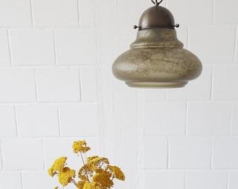 Peill & Putzler Glass hanging lamp, pendant lamp Mid Century