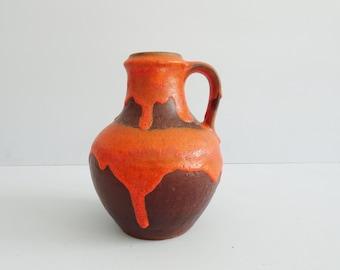 large vase by Carstens Tönnieshof in brown orange