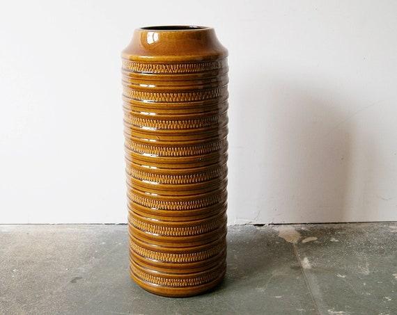 "Carstens floor vase brown honey-coloured, large vase 51 cm / 20.08"""