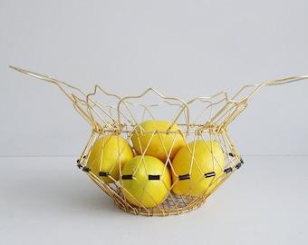 kleiner Drahtkorb zum aufhängen, goldenes Körbchen, Zauberkorb, Eierkorb, verstellbarer Metallkorb