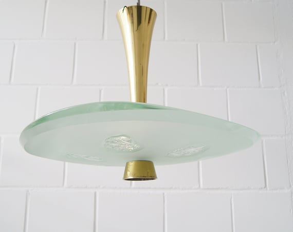Ceiling lamp by Fontana Arte Model 1748 Lamp by Max Ingrand & Dubé, lighting design classics