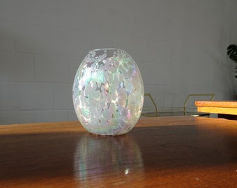 Art Deco Glass Vase, Vintage Egg Vase, WMF Vase