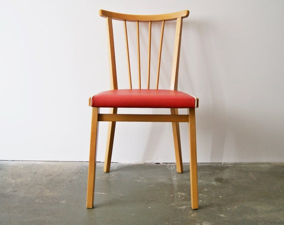 50s kitchen chair, sprout chair, wooden chair, side chair, mid century chair