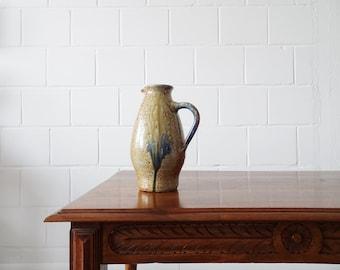 large ceramic jug with salt glaze, studio ceramics, juice jug