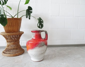 Karlsruhe Majolica Vase by Fridegart Glatzle 1960s