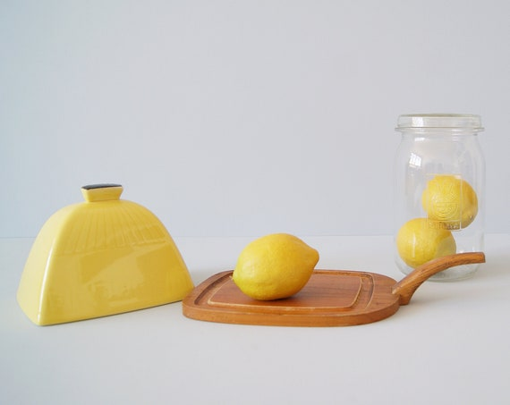 Jie Gantofta cheese bell yellow, butter dish Made in Sweden