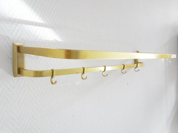 golden wall coat rack made of aluminum, golden hook strip, wardrobe with hat rack