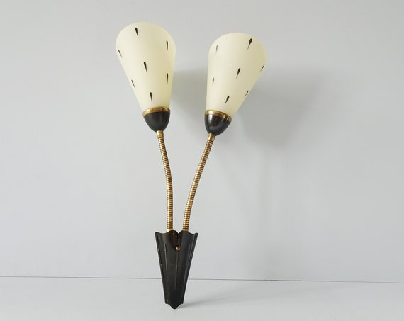Wall lamp with bendable arms, wall lamp 1950s
