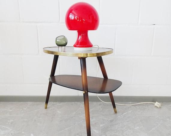 Peill & Putzler Mushroom table lamp in red, glass desk lamp