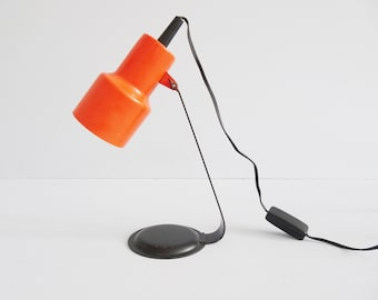 Metal desk lamp in black red, minimalist table lamp