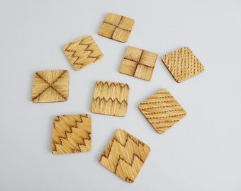 handmade coasters made of matches, bar accessories, table savers