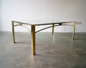 Coffee table gold by broncz, table bronze, Hollywood receny, sofa table, large glass table