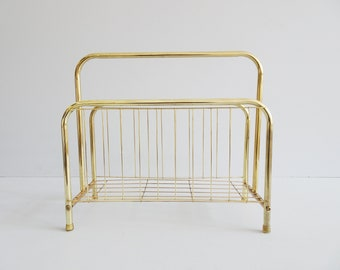 Magazine stand in metal 1970s