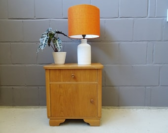 Bedside table oak, small chest of drawers, night cabinets Art Deco