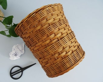 Rattan Trash, Basket Container, Planter
