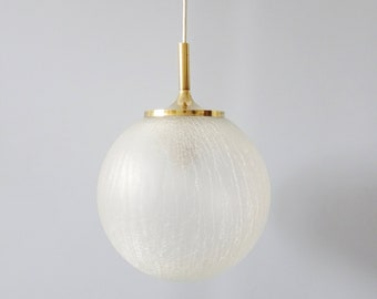 Glass hanging lamp, glass ball pendant lamp with structure