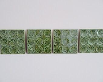 Retro Keramik Fliesen grün von Villeroy & Boch von 1979, grüne Keramikfliesen