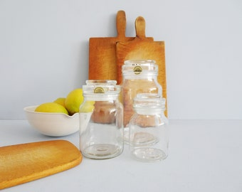 Storage glass set in three sizes, lidded glass, kitchen storage, candy, cans
