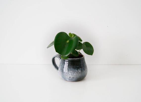 Ceramic pitcher, cup, flowerpot gray