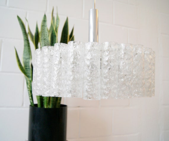 Doria lamp Mid Century frosted glass chandelier, pendant lamp glass, hanging lamp