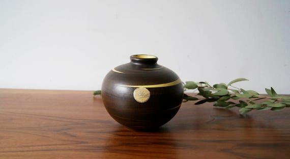 Ilkra ceramics, Ilkra vase Cairo, ceramic vase, vase brown yellow, vase, Ilkra mid century Modern