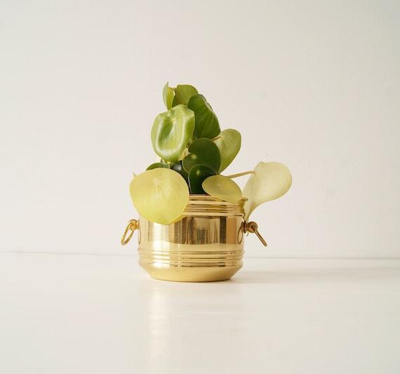 Brass flower pot SKS mid century, planter, plant pot