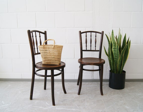 Wooden chair set with engraving, bentwood chairs, bistro chair