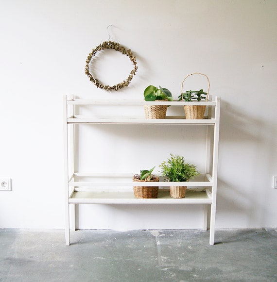 Planter 50s white, mid century shelf, ladder shelf