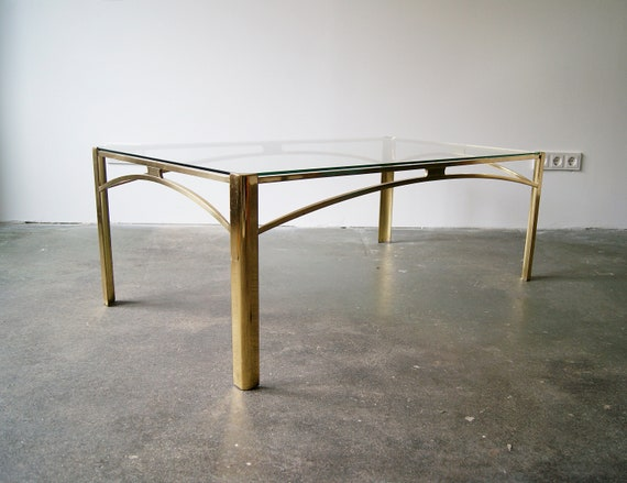Gold coffee table by broncz, table bronze, Hollywood Receny, coffee table, large glass table