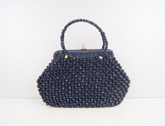 art deco bag made of brown velvet, handle bag 20s