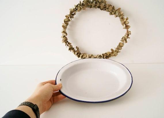 Enamel plate, enamel dish, camping plate, baking pan, fruit bowl, enamel plate