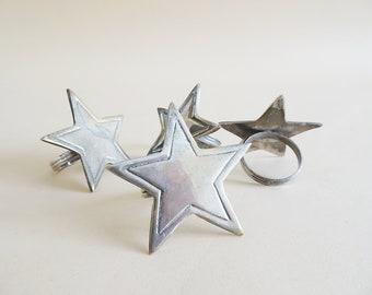 silver star napkin rings