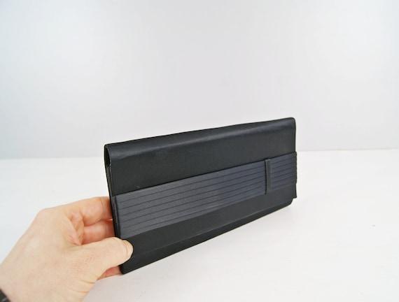 black clutch purse, simple evening bag