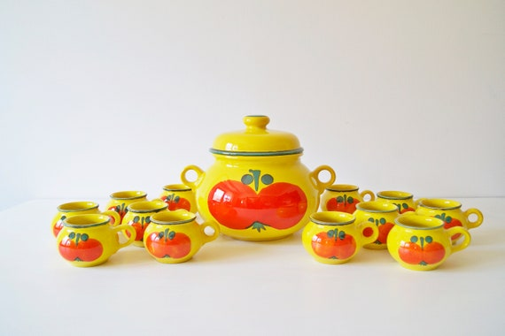 Bowl set 13-pieces of Waechtersbach, ceramic bowl, terrine, mug
