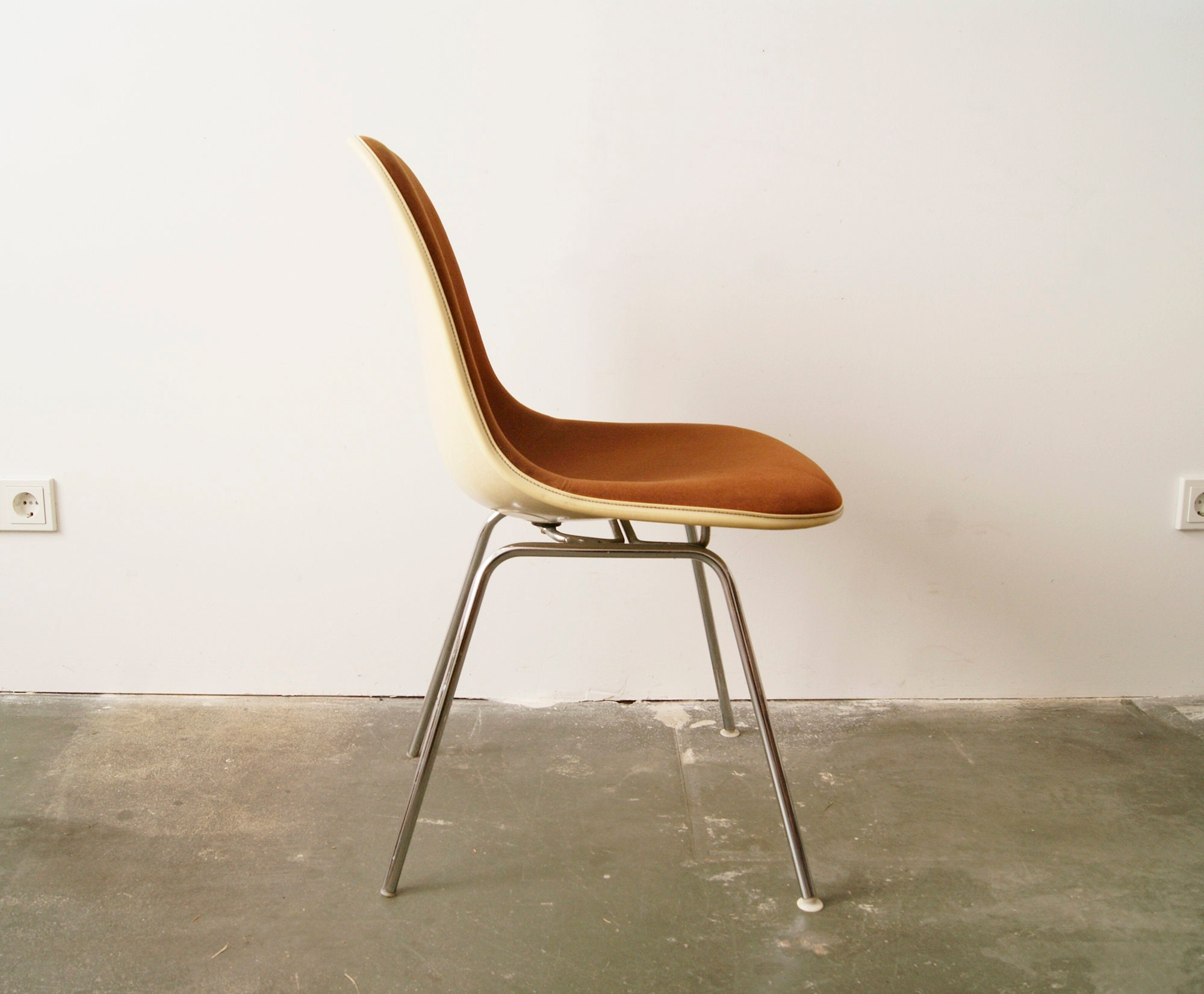Eames Chair F R Herman Miller Fiberglas Stoff Stuhl Design