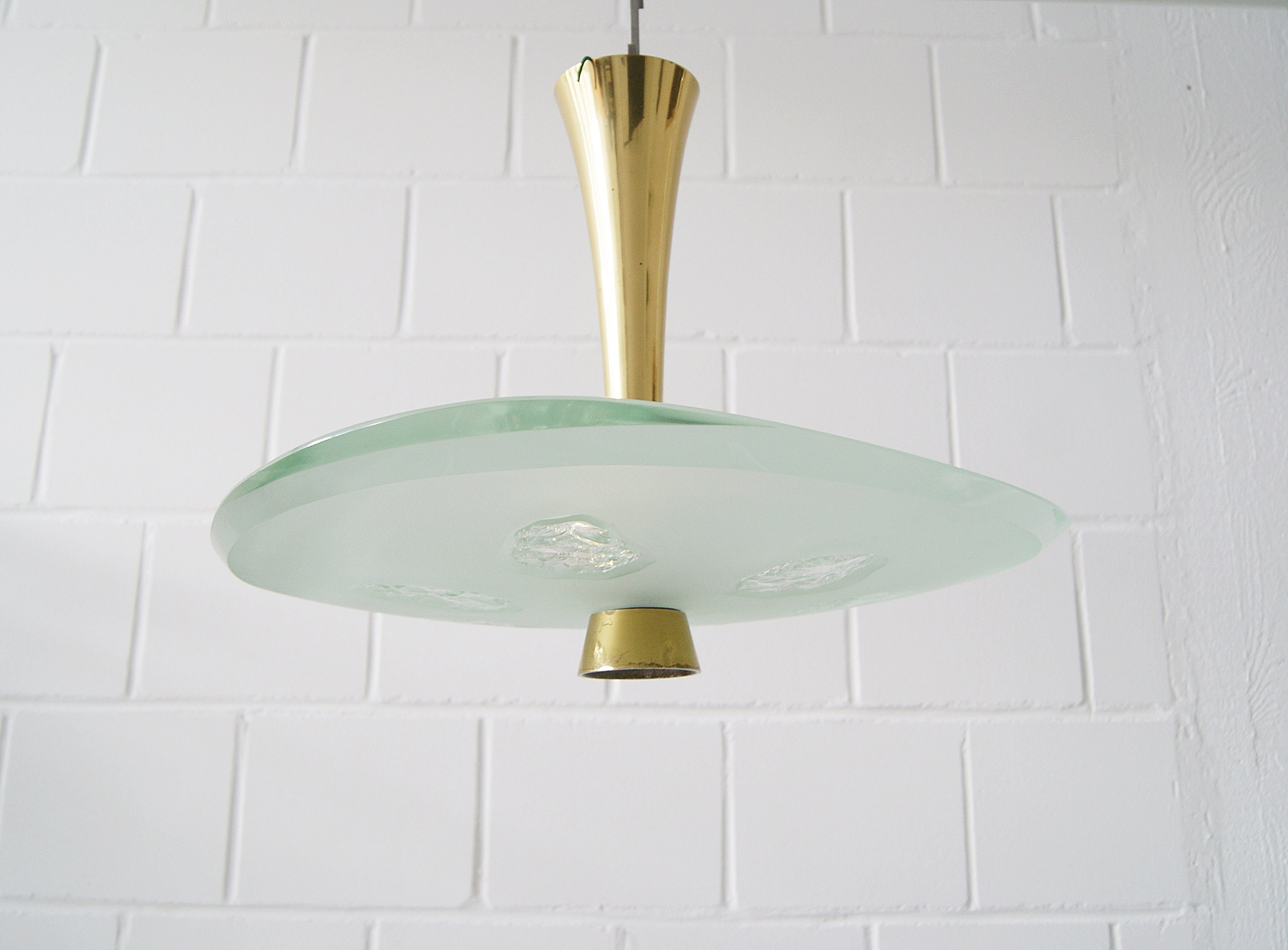Ceiling lamp by Fontana Arte Model 1748 Lamp by Max Ingrand ...